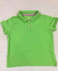 Lilly Pulitzer Green Logo Tree Girls Polo Shirt Top Size 5