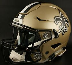 New Orleans Saints Nfl Authentic Gameday Football Helmet W/ Sf-2bd Facemask