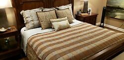 Dransfield And Ross 7 Piece King Size Duvet Cover Throw Pillow Shams Custom Made