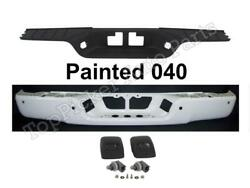 Painted White Rear Bumper Face Bar Center Pad Lic Light For Tundra 07-13 wHole