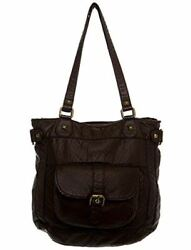 Soft Vegan Leather Slouchy Tote Crossbody The Dani by Ampere Creations $46.00