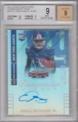 2014 Panini Contenders Championship Ticket 227a Odell Beckham Auto 24/49 Bgs 9