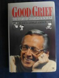 Charles M. Schulz Signed Hardback Titled Good Grief With Coa