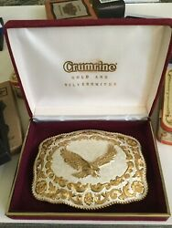 Belt Buckle New Crumrine Gold And Silversmith's Never Used