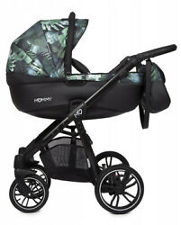 Beautiful Baby Pram Babyactive Mommy Jungle + Car Seat In The Accents Of A Pram