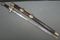 A fine Chinese jian (sword) with a superb blade - Qing dynasty China 19th c.