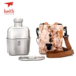 Kettle And Titanium Lunch Box Camping Army Water Bottles Keith Titanium Sports