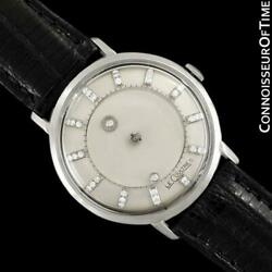 1963 Jaeger-lecoultre Galaxy Diamond Mystery Dial 14k White Gold - Mint
