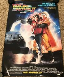 Michael J Fox Signed 24x36 Back To The Future Ii Movie Poster Proof Jsa
