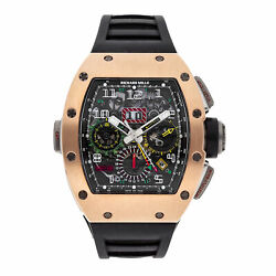 Richard Mille Flyback Chronograph Dual Time Zone Gold Titanium Watch RM11-02 RG