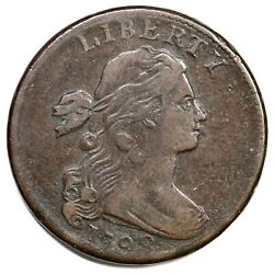 1798 S-167 2nd Hair, Large 8 Draped Bust Large Cent Coin 1c