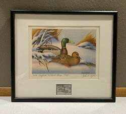 1974 Maryland - State Duck Stamp Print John Wilson First Of State