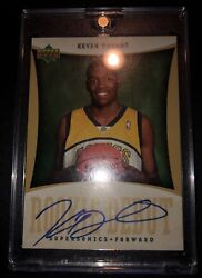 Kevin Durant 2007 Rookie Debut Auto Supersonics Jersey RC Autographed Very Rare