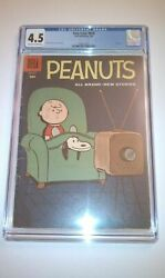 Four Color 878 Cgc 4.5 Dell 1958 Peanuts 1 Charle Brown Key Silver K4 191 Cm