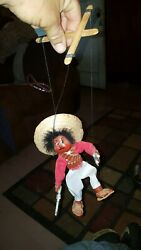 Very Nice Vintage Mexican Mexico Puppet-hand Made Pistolera Pistol Shooter