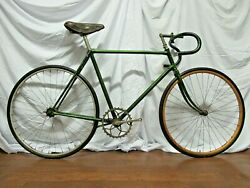 Rare Antique 6 Day Racer - 100 Year Old Track Bike - Wooden Wheel - Skip Tooth