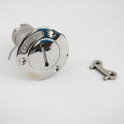 1 Pc Stainles Steel Deck Fuel Boat Deck Filler 1-1/2 Od With Keys Marine Pretty