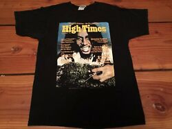 Vintage🔥 Fruit Of The Loom High Times Magazine '76 Bob Marley Sz M Early 2000's