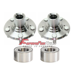 Front Wheel Hubs And Bearings Kit Left And Right Fits 2005-10 Honda Odyssey 930-000