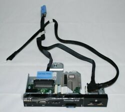 Dell Poweredge R720 Front Usb Control Panel 09v3wv 9v3wv /w Frame And Cables