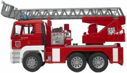 Bruder 02771 Fire Engine With Ladder Water Pump And Light/sound Module