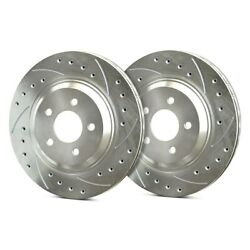 For Audi S6 13-16 Sp Performance Drilled And Slotted 1-piece Front Brake Rotors
