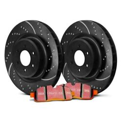 For Chevy S10 89-97 Ebc Stage 8 Super Truck Dimpled And Slotted Front Brake Kit