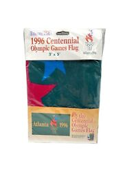 Vintage Emerson Usa 1996 Centennial Olympic Games Flag Banner 3 Ft X 5 Ft New