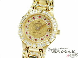 CONCORD Saratoga Quartz ladies' watch Diamond bezel Yellow Gold Excellent+++