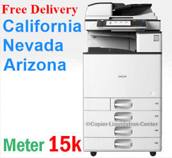 Ricoh Mpc3503 Mp C3503 Color Network Copier Print Fax Scan To Email. 35 Ppm Fr