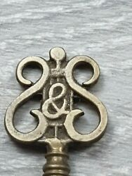 Antique Brass Detailed Steinway And Sons Grand Piano Lock Key