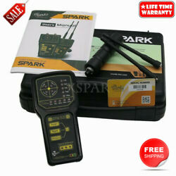 2 Antennas Spark Long Range Gold Metal Detector For Gold Silver Bronze Caves X-