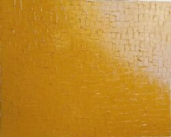 Abstract oil painting canvas Large OOAK 4x5'   Shannon Stirling Stiles in Ochre