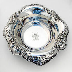 Ornate Serving Bowl Sterling Silver Dominick And Haff 1920