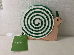 Kate Spade New York Snail Turn Over a New Leaf Leather Applique Coin Purse NWT