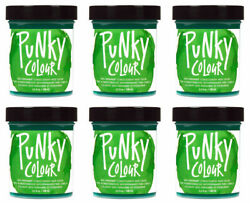 6 X Jerome Russell Punky Colour Semi-permanent Hair Color Spring Green 1436
