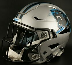 Carolina Panthers Nfl Authentic Gameday Football Helmet W/ Sf-2eg-sw Facemask