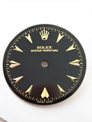 Vintage 1950and039s Rolex Oyster Perpetual Dial In Black Color 28 Mm
