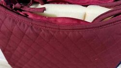 Mark Of Grace Quilted Purse Style Bible Cover New Large Burgundy