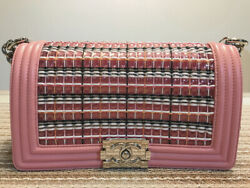 2017 Boy Chanel bag pink F/S 100% Authentic Japan CHANEL