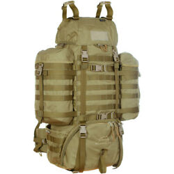 Wisport Army Raccoon Tactical Rucksack 85l Backpack Molle System Pack Coyote Tan