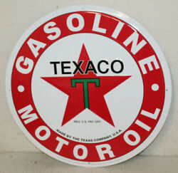 Large Vintage Style 24 Texaco Gas Station Signs Man Cave Garage Decor Oil Can