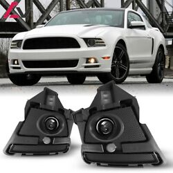 For Ford Mustang 13-14 Clear Lens Pair Fog Light Lamp+wiring+switch Kit