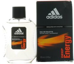 Deep Energy by Adidas for Men EDT Cologne Spray 3.4 oz. Damaged Box $49.09