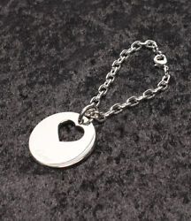 Auth CARTIER Charm Key Holder Key Ring Silver Heart FS from Japan