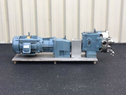 Waukesha Rotary Positive Displacement Pump & Motor Assembly Model 060 UL