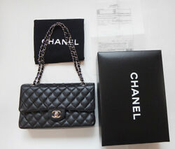CHANEL bag Classic medium 25 Chain Shoulder Caviar USED 100% authentic Very MINT