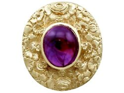 Vintage 3.77ct Amethyst and 9ct Yellow Gold Dress Ring