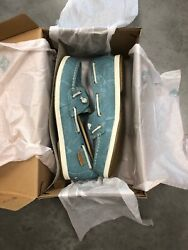 Sperry Coil Ivy Blue Water Canvas Womens Boat Shoes; Color: Blue Size: 9.5M set1