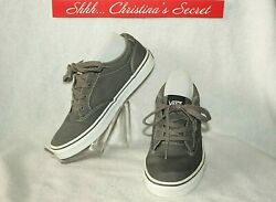 Sneakers Shoes Off The Wall Dark Gray Canvas Kidand039s Laces Sz 5 Xlnt++